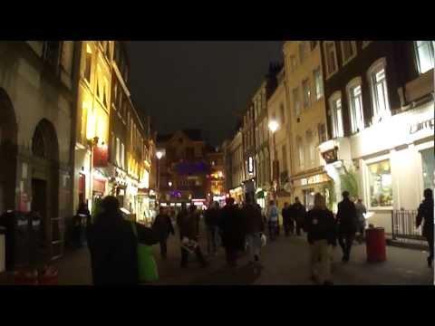 Walking around Chinatown at night, London, UK; 11th November 2011