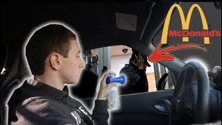 DRIVE THRU AIR HORN PRANK AT MCDONALD'S!