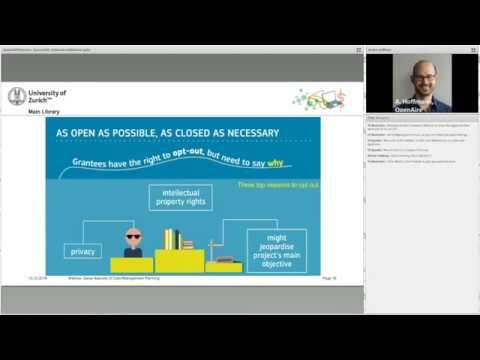 Euresearch Webinar Horizon 2020 - Data Management Planning