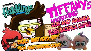 TIFFANY FISHER ARTIST'S UNBOXING 📦#2: ANGRY BIRDS HATCHLINGS ZOE AND ARIANNA PLUSHIES!!