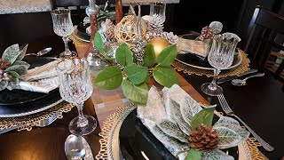 From Thanksgiving to Christmas | Small Tablescape
