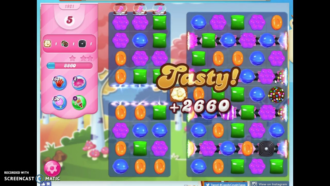 Candy Crush Level 1921 Audio Talkthrough 1 Star 0 Boosters Youtube