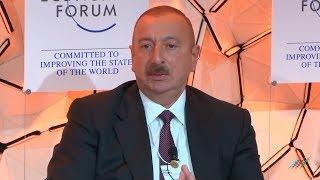 Ильхам Алиев на Давосском экономическом форуме: В Азербайджане мы всегда держим слово