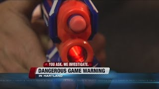 High school warns against popular 'Nerf wars'