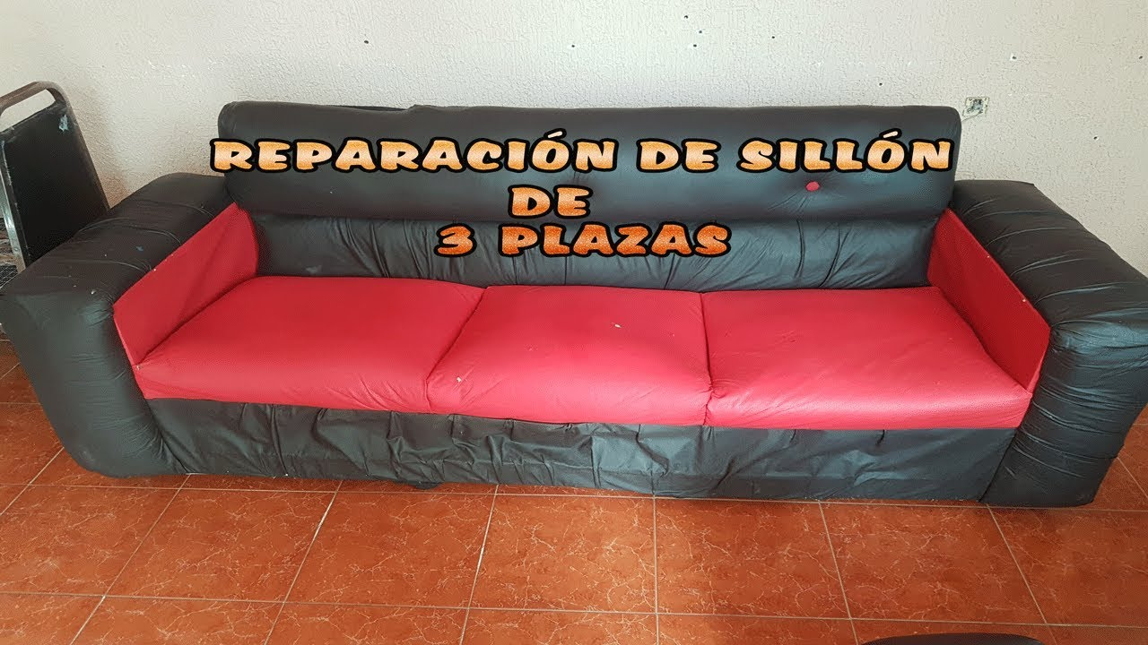 Reparación de Sillon de 3 plazas - YouTube