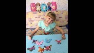 Бабочка из ткани в технике оригами своими руками,  мастер класс