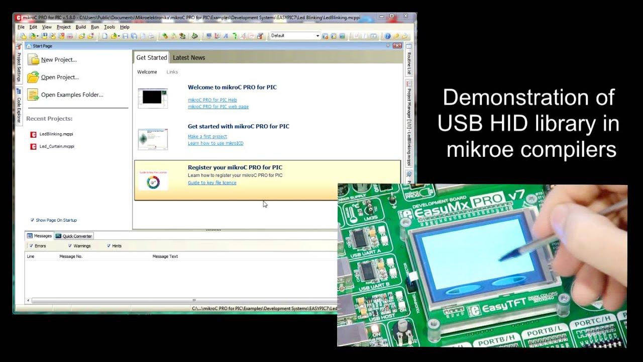 mikroElektronika - USB Device Library (HID Example)