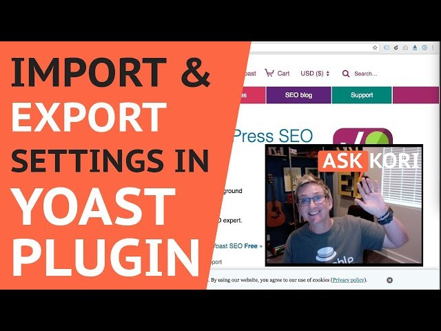 How to Import / Export Yoast Setting for WordPress