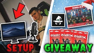 ROBLOX Holiday *GIVEAWAY* / My SETUP TOUR!!! (250,000+ Subscriber Special!)