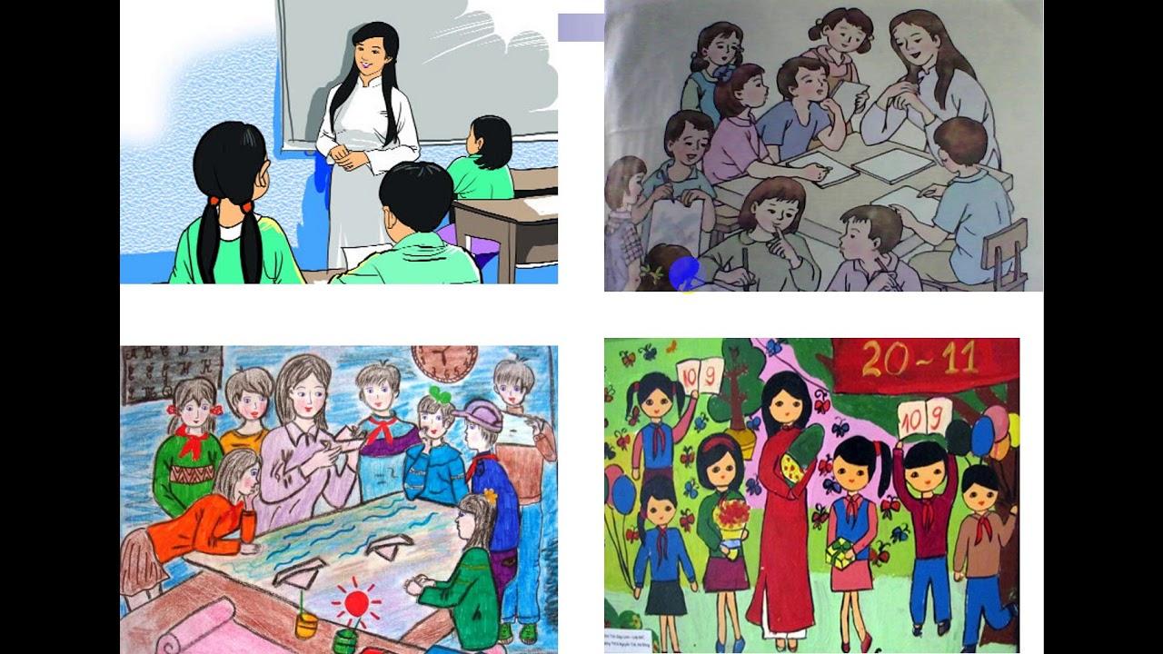 Mĩ thuật lớp 2 Tuần 23 Bài vẽ mẹ hoặc cô giáo
