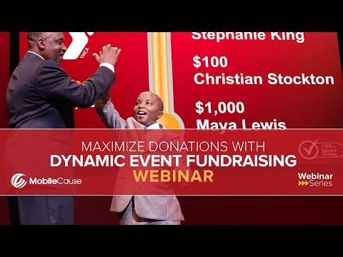 Dynamic Event Fundraising for Maximum Donations Webinar