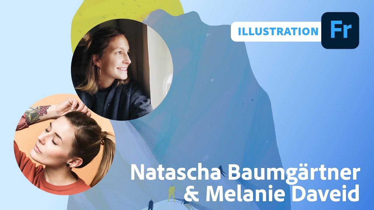 Illustration mit Natascha Baumgärtner und Melanie Daveid  Adobe Live