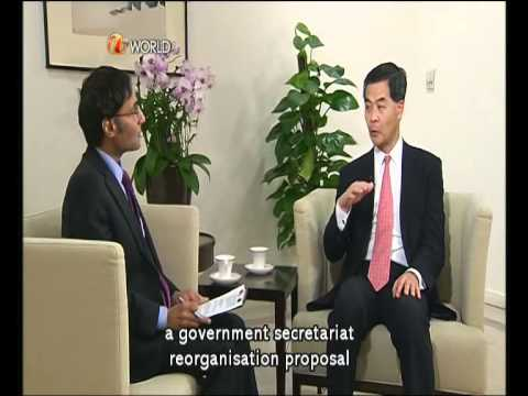 Newsline with  CY Leung 2012-06-24 part 1