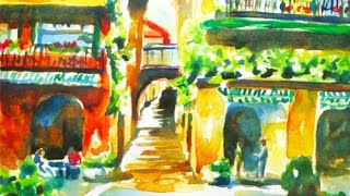 Bellagio, Italy Watercolor Painting Tutorial