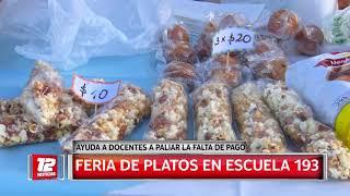 Feria de platos en la Escuela N° 193.