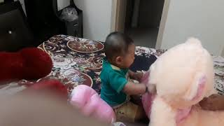 Cute Baby Kid gives funny reactions.  Crazy and funny moments of small kid.