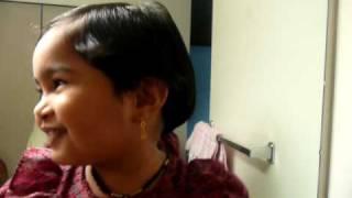 Manasi singing a marathi song