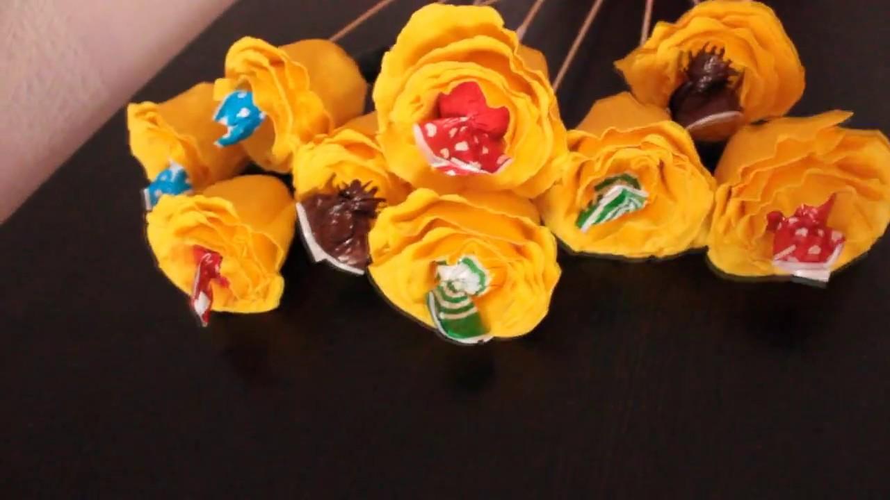 Букеты из чупа чупсов своими руками пошагово фото 377