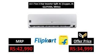 LG 1 Ton 3 Star Inverter Split AC (Copper, JS-Q12YUXA, White)