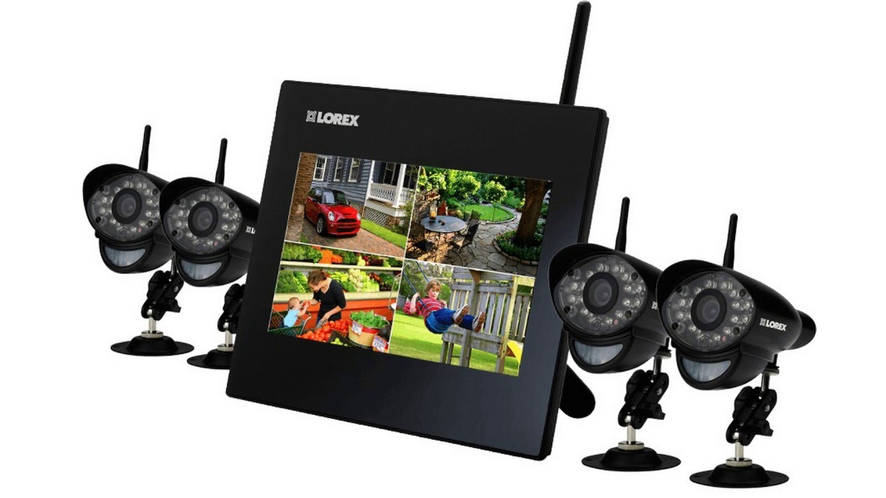 Lorex LHC4WB 4-Channel GB ECO Blackbox 4 x H Wireless Indoor/Outdoor Security Camera System with Stratus Connectivity (White).