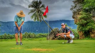Can I Beat Ryan With 1 Club? | Golfing At Olomana Golf Club In Hawaii / Видео