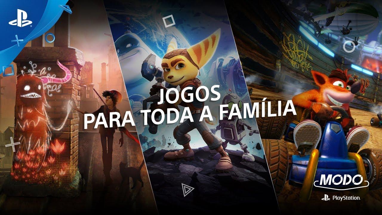 Modo Playstation 32 Jogos Para Toda A Familia Youtube