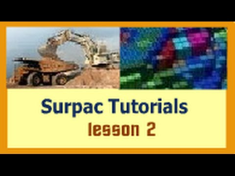 Surpac Tutorials - lesson 2 - Geological database  (Data import and auditing)