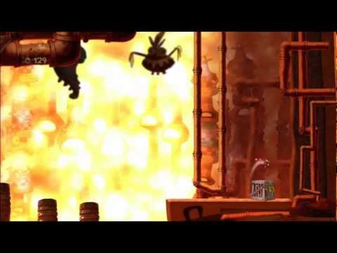 Rayman Origins (1080i HD) Walkthrough Part 29 - Piping Hot! - Electoons & Lum Medal |