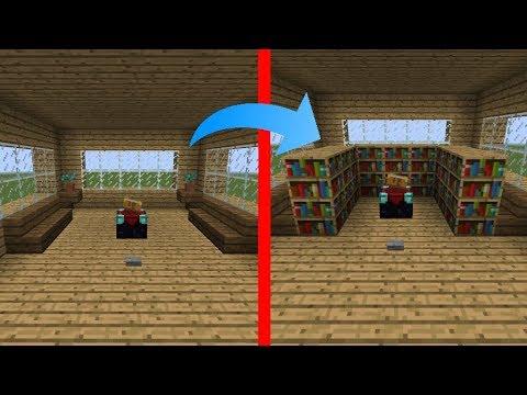 enchanting living room computer desk | Minecraft 1.14 Hidden Enchanting Table/Room [Tutorial/PC ...