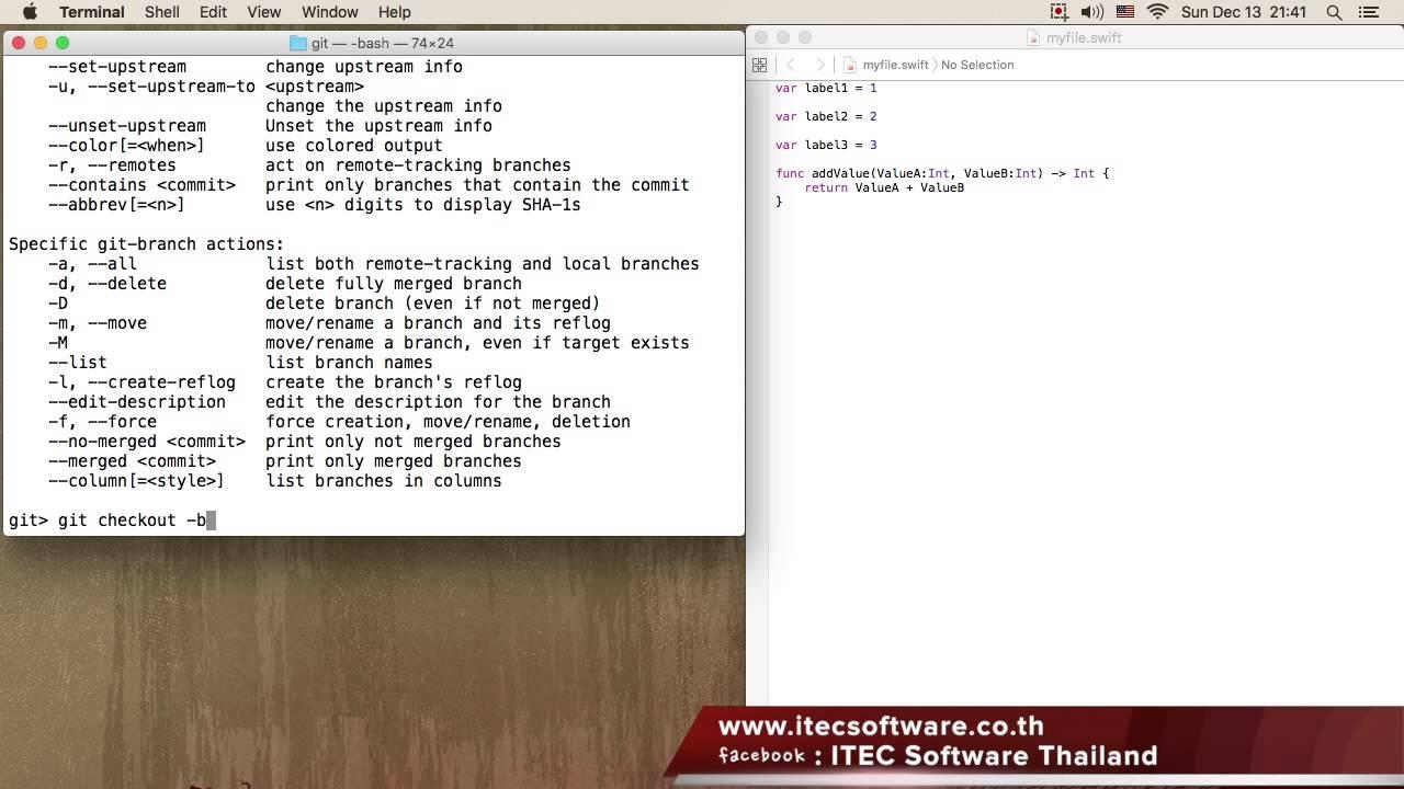 Programming / สอนเขียนโปรแกรมบนระบบ iOS ด้วยภาษา Swift สำหรับผู้