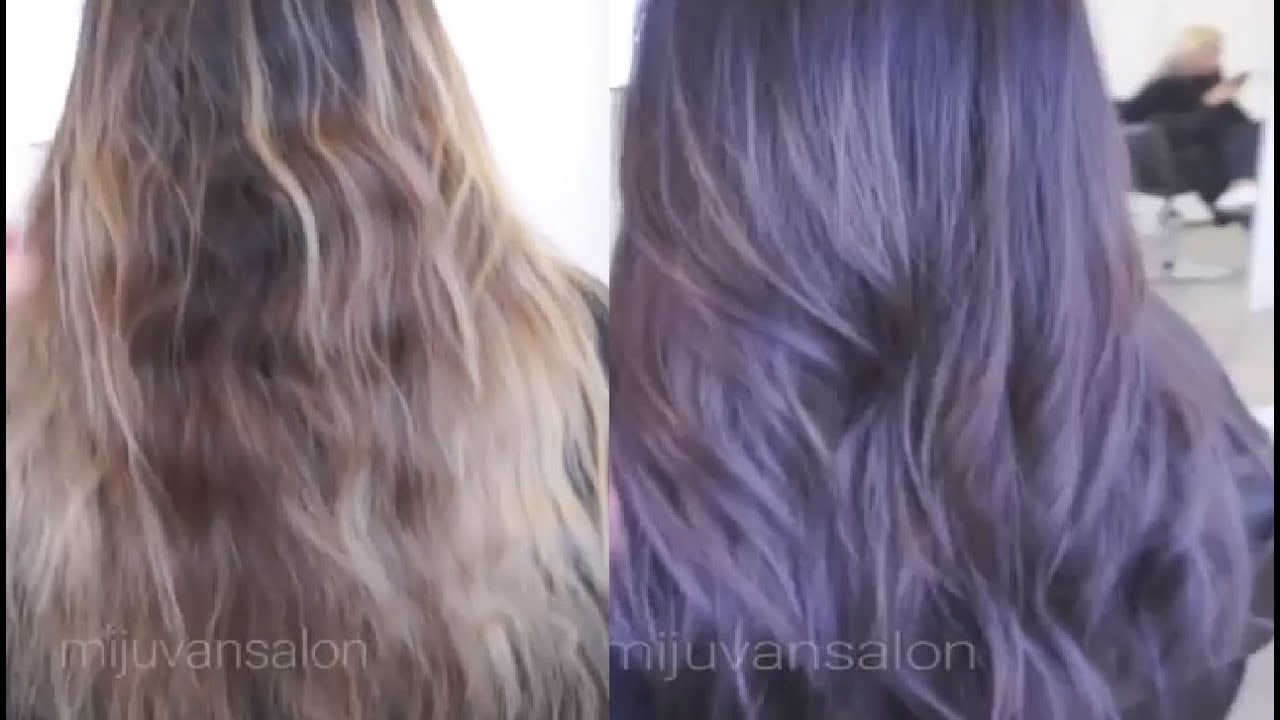 How To Get Ash Lavender Hair Color Using Fanola Oro Colors Youtube