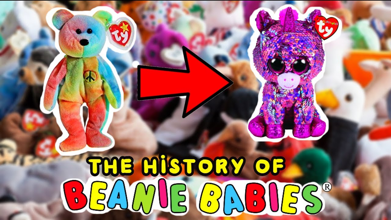 The evolution of TY beanie babies to beanie boos 1993 - 2018 ( The history  of TY ) 4e3446af1a1