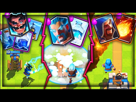WAIT, THIS ACTUALLY WON! • Clash Royale 3 WIZARD DECK!