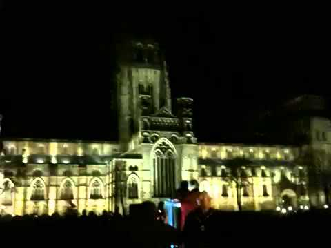 Durham Cathedral Eco Lights Switch On 2013