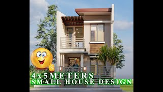 4x5 Meters  Small House Design Ideas 20sq.m/ 2 Bedrooms