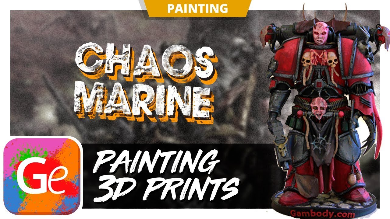 How Do You Paint Your Chaos Space Marine 3D Model? - Press