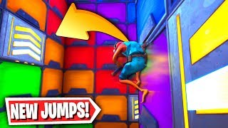 *New* Vertical Wall Jump Parkour! (Fortnite Creative Mode)