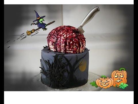 Halloween Motivtorte Gehirntorte Braincake Party