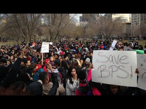 Boston Public School Students Walk Out Of Class To Protest Budget Cuts