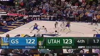 Warriors VS Jazz 122-123 1.7 second left
