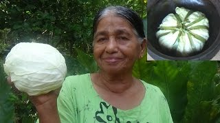 Village Foods - Cooking Full Cabbage in my Village by my Mom