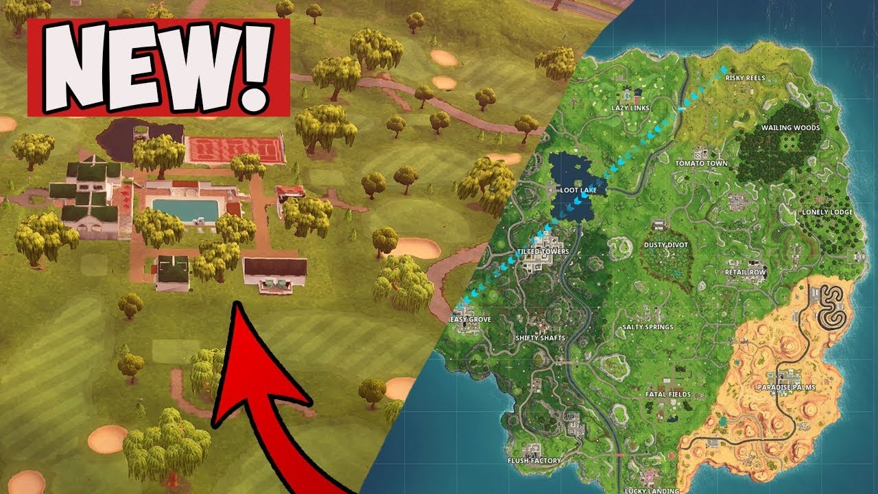 Fortnite Season 5 Official New Map Lazy Links Paradise Palms