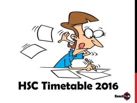 HSC Time Table 2016 Maharashtra Board | Exacthub