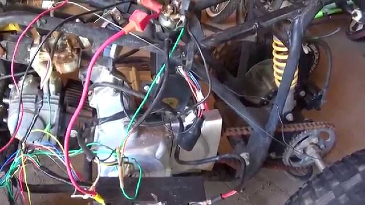 Schema Elettrico Quad : Chinese quad cc wiring nightmare youtube