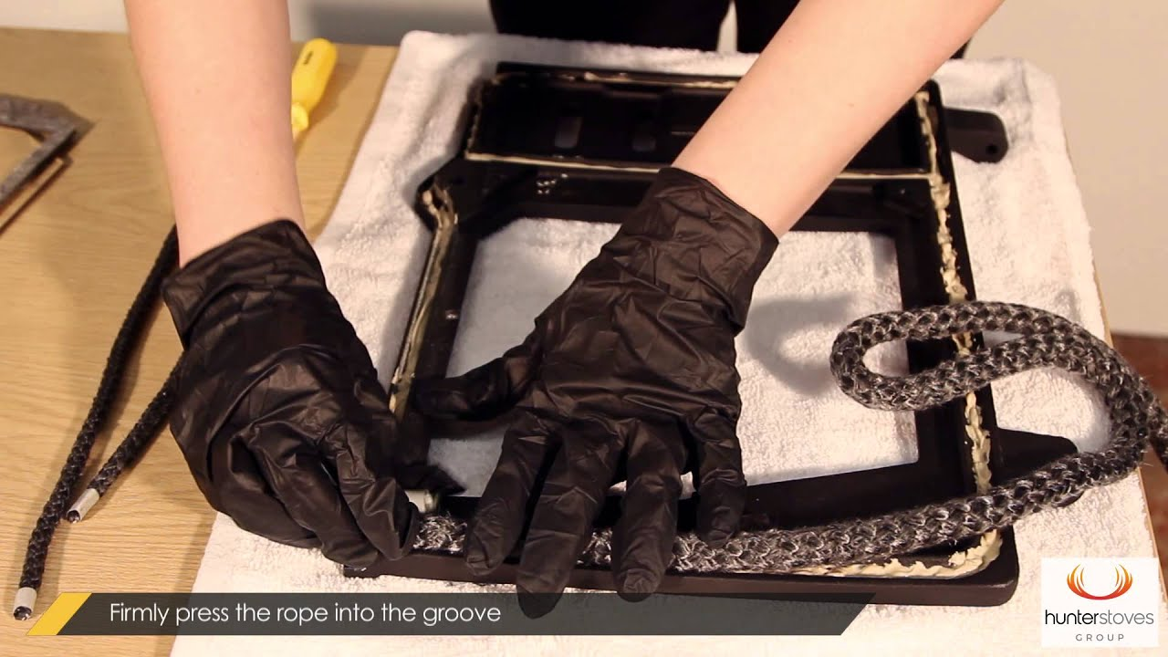 How to Replace Ceramic Rope and Gaskets on your Stove Door (Herald ...