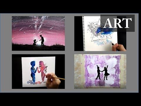 ART#03 | Câu chuyện tình yêu vẽ bằng màu nước | The love story painted by watercolors