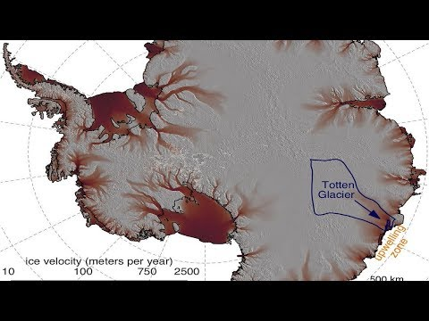 The largest glacier in East Antarctica lost ice due to the warm waters and strong winds.