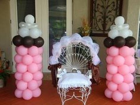 ideas para decorar las silla principal del baby shower
