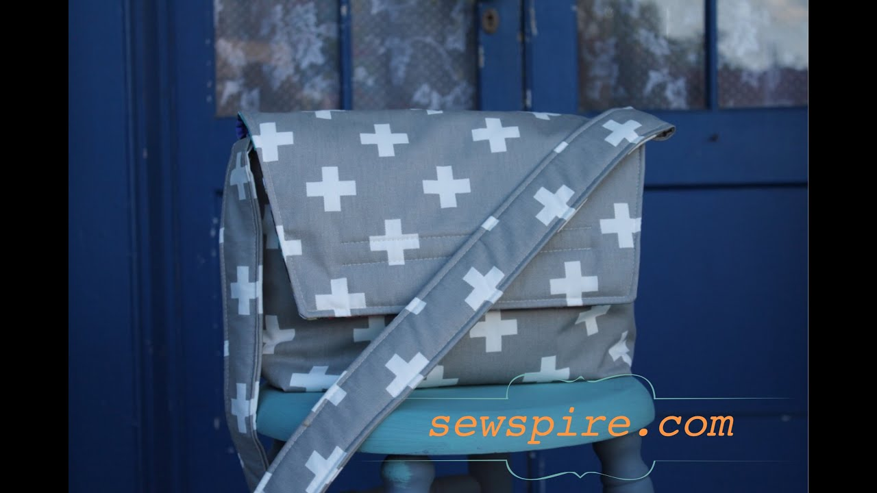 How to sew a crossbody messenger tote bag youtube jeuxipadfo Gallery