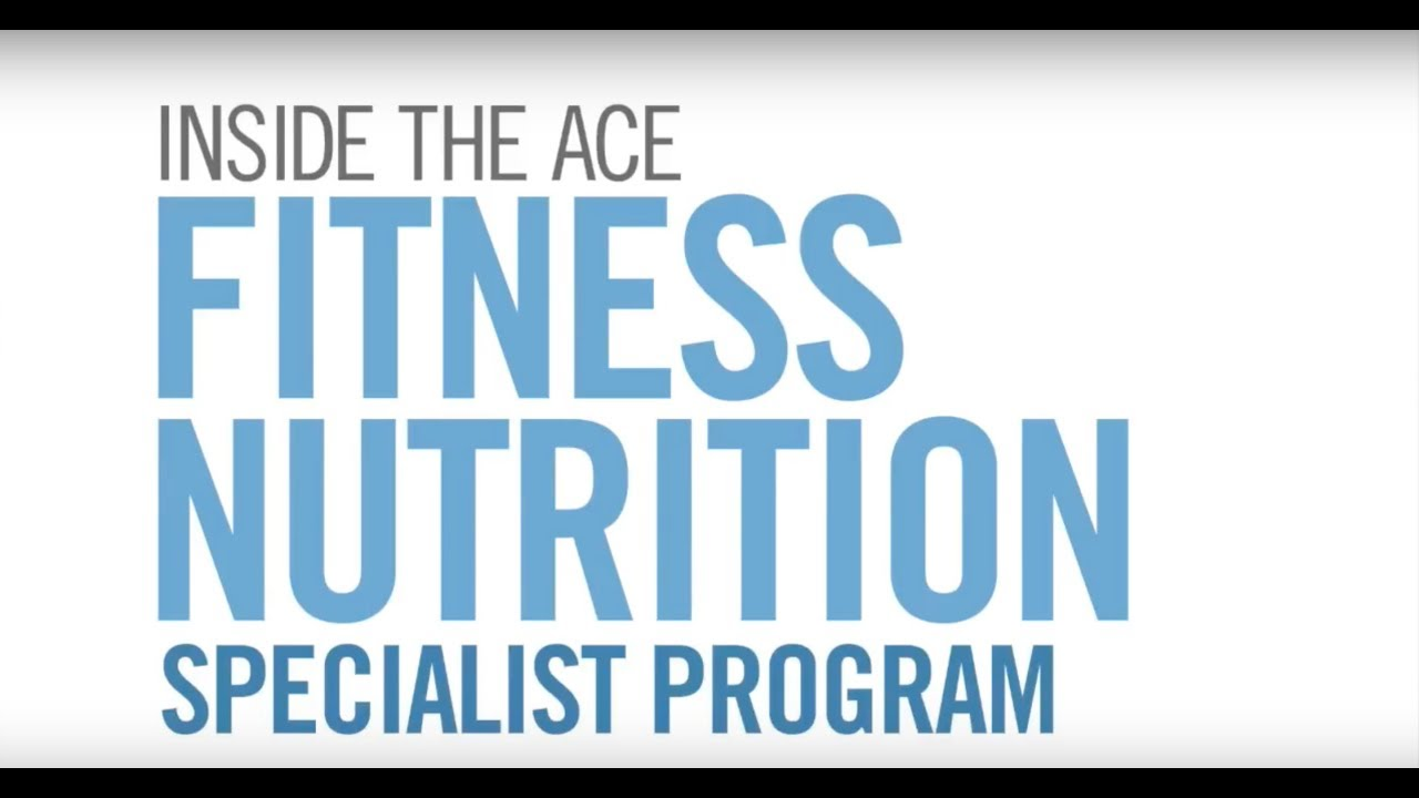 Fitness Nutrition Specialist Nutrition Certificate Study